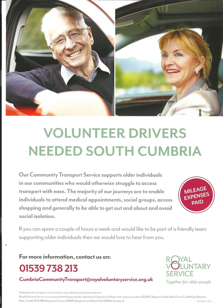 RVS Volunteer Drivers Poster